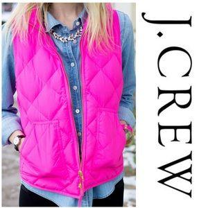 J. Crew Hot Pink Excursion Vest